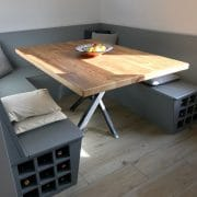 Hex Driftwood Lac Table