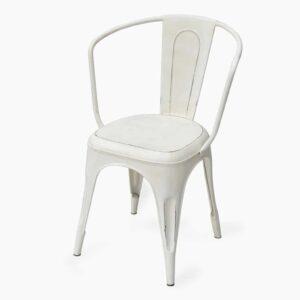 Iron Arm Chair White