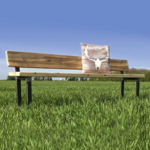 Matching bench with back - U Base