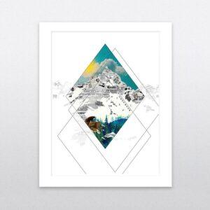 mountain day framed