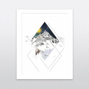 mountain night framed