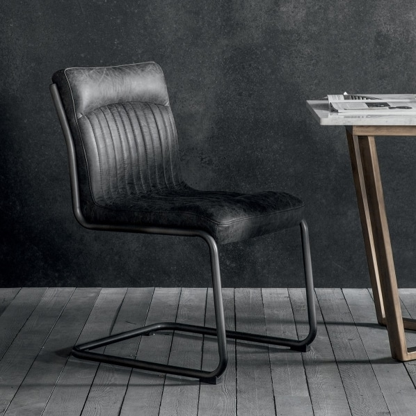 black chair leather