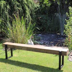 Reclaimed wood outdoor bench