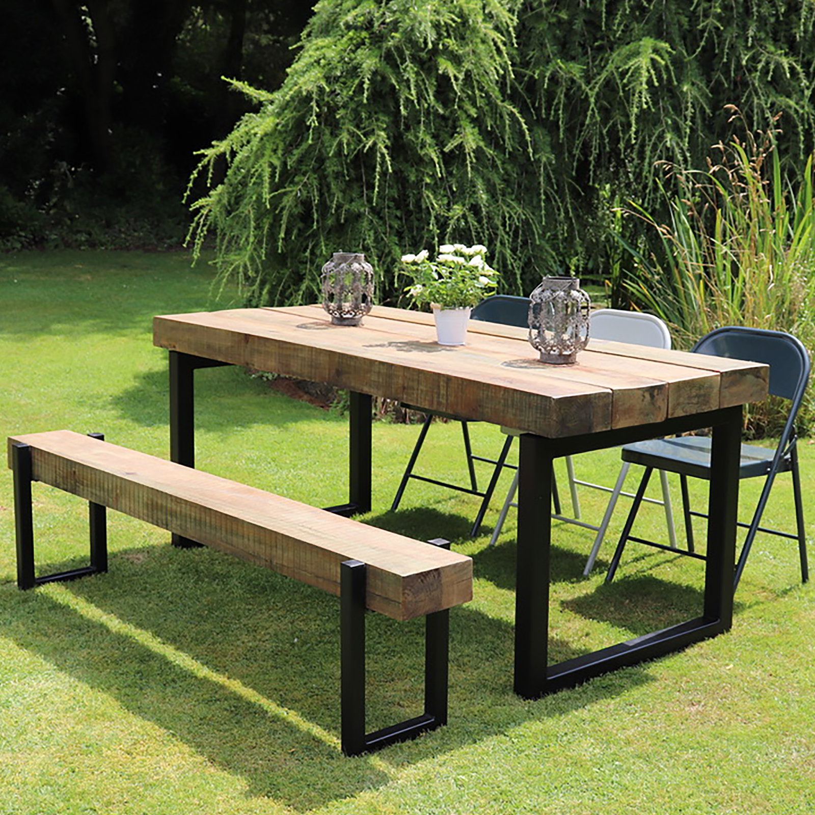 Industrial Outdoor sleeper Table