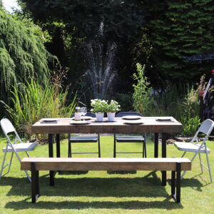 Trestle frame outdoor table