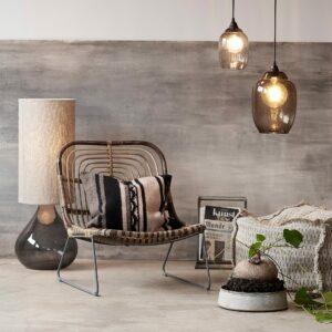 Heyl Lampshade - Vase - Smoked Grey
